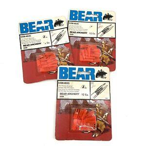NOS Vintage Bear Archery Bjorn Nocks Recurve Traditional Bow 7000 3pk 36 total