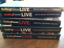 Selling Power Live 3 New Sealed+ 2 V.5Hours Sales Training Prospecting Oop