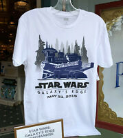 Disney Shirt Star Wars Galaxys Edge Dated Opening Day Disneyland Size L
