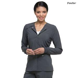 Dickies Scrubs EDS ESSENTIALS Women's Snap Front Warm Up Jacket DK305