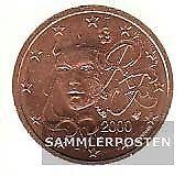 Frankreich F 2 2000 Stgl./unzirkuliert 2000 Kursmünze 2 Cent