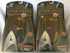 "Star Trek Movie Playmates 6"" Warp Collection Scotty & Cadet McCoy Lot New MISB"