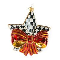 Mackenzie-Childs Ribboned Star Glass Ornament *NIB* Item #53913-39