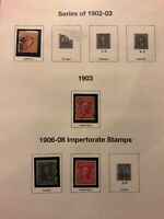 US 20th Century stamp collection 1903-1914 12 album pages Used H Low Price!