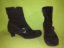 Black Suede La Canadienne Ankle Boots 10