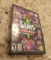 The Sims 3 Late Night Expansion Pack EA  (Windows/Mac, 2010) Teen CD Book & Case