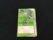 Vintage 1943 Your Handy Credit Union Cardboard Quarter Saver