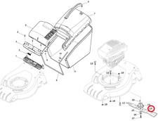 Mountfield HP42H Petrol Lawnmower 41cm Cutting Blade 181004341/3 2016 Model