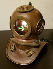 Vintage Nautical Deep Sea Diving / Scuba Helmet Display Lamp with Bulb
