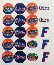 "SET of 20- 2"" FLORIDA GATORS ADHESIVE STICKERS. Make Cupcake Toppers & more"