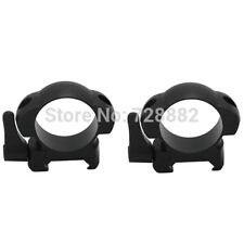 Steel Weaver 30mm Low Profile Black Quick Detach Mount Rings