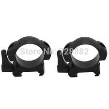 Steel Weaver 30mm Low Profile Black Quick Detach Mount Rings