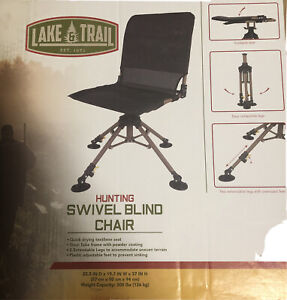 Lake And Trail Foldable And Collapsible Hunting Swivel Blind Chair NEW in Box
