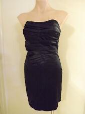STUNNING Black Strapless/Spaghetti Strap EVENING Dress . BLOSSOM . Size 8 #J0118