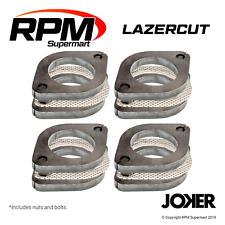 "2 1/2"" Two Bolt Mild Steel Muffler Exhaust Flange Plate Kits (Four)"
