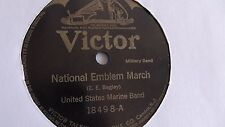 United States Marine Band - 78rpm single 10-inch – Victor #18498 National Emblem