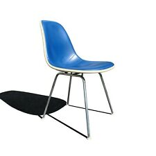 A mid century modern fiberglass Eames DSX single vanity or office chair.