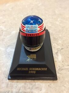 MINICHAMPS 1/8 SCALE MICHAEL SCHUMACHER, BENETTON 1995 BELL HELMET, 510389501