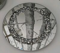 Crushed Diamond Crystal Candle Plate 20cm