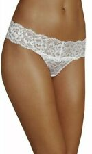 NEW PLUS SIZE 26 LACE BANDEAU THONG KNICKERS PANTIES MARKS & SPENCER WHITE