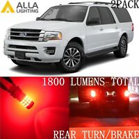 Alla Lighting LED Blinker Turn Signal Light 3157 Lamp /Brake Bulbs for Ford,Red