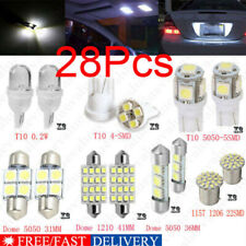 28Pcs Auto Car Interior Led Light Dome License Plate Mixed Lamp Set Accessories~ (Fits: Saab)