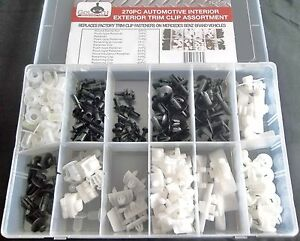 270pc MERCEDES BENZ TRIM CLIP RETAINER PANEL BUMPER FASTENER ASSORTMENT TCA270