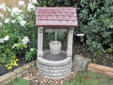 Large Wishing Well Garden Ornament (British Made) Free Delivery Border Stoneware