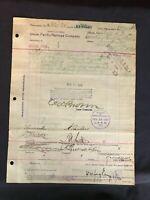 Circa 1904 Union Pacific Railroad Company Document Advertising
