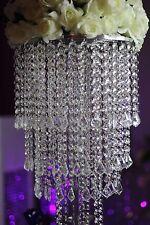 10PCS Acrylic Crystal Wedding Centerpiece Table Chandelier Tall Diameter Decor