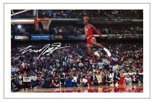 MICHAEL JORDAN CHICAGO BULLS AUTOGRAPH SIGNED PHOTO PRINT NBA BASKETBALL