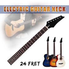 Electric Guitar Neck Maple 24 Fret Rosewood Fretboard Black Gloss Head Bolt On
