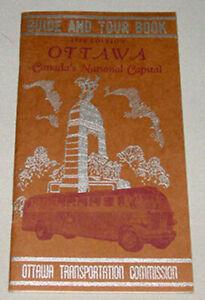 Original 1955 Ottawa Canada's National Capital Travel Tourist Brochure Booklet