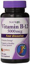 Natrol Vitamin B12  Fast Dissolve  Strawberry, 5000 mcg, 100 Count