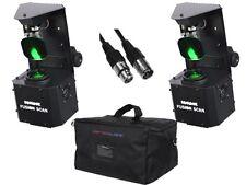 2 X EQUINOX FUSION SCAN MAX 30W PACKAGE INC BAG DJ DISCO SCANNER LED DMX