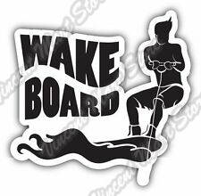 Wakeboard Wakeboarding Bindings Water Sport Car Bumper Vinyl Sticker Decal 4.6""