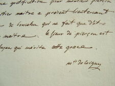 Le marquis de Coigny demande une faveur.