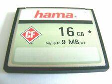 16GB Compact Flash Card ( 16 GB CF Karte ) HAMA gebraucht