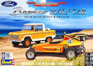 Revell 7228 FORD BRONCO HALF CAB W/ DUNE BUGGY & TRAILER plastic model kit 1/25