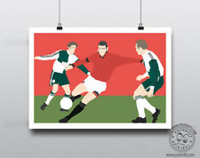 ERIC CANTONA Manchester Football Kick Poster Minimal Posteritty MUFC 1995