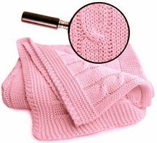 Baby-Decke Kuscheldecke Schmusedecke Babydecke Bio Baumwolle Zopf rosa 70x90 cm