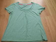 Short Sleeve Scoop Neck Textured Cotton Women's Tops & Shirts