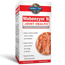 Garden of Life Joint Support Supplement -Wobenzym N Systemic Enzymes 400 Tablets