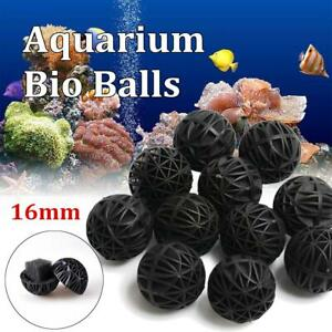 50/100pcs Aquarium Pond Reef Bio Black D16mm Balls Fish Tank Air Pump Caniste