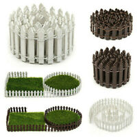 DIY Accessories Mini Fairy Garden Decor Wood Fence Terrarium Doll House Toy Kits