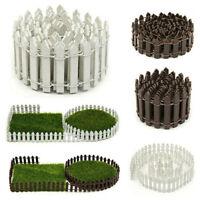 DIY Accessories Mini Fairy Garden Decor Wood Fence Terrarium Doll House Toy Kits