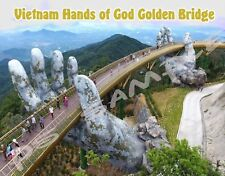 Vietnam - Hands of God GOLDEN BRIDGE - Travel Souvenir Fridge Magnet