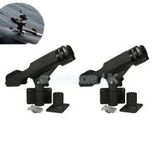 Set of 2 Boat Kayak Canoe Swivel Rod Holder Rack Fishing Pole Rest Bracket