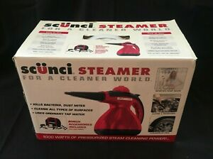 Scunci Handheld Carry Steam Cleaner 1000 Watts In Box *Unused