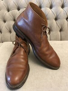 "Crockett Jones ""Chepstow"" Ankle H. Chukka Boot Grain Brown Leather England 10,5"